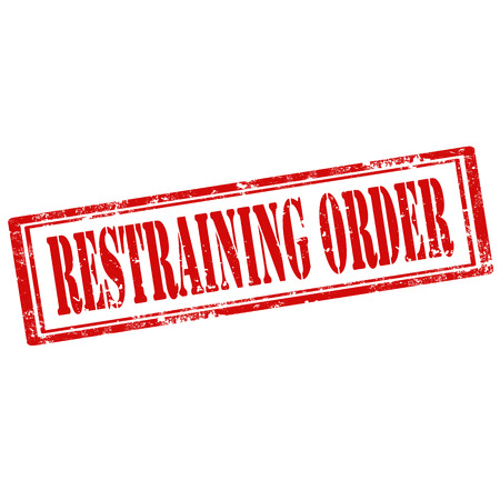 restraining: Grunge rubber stamp with text Restraining Order,vector illustration