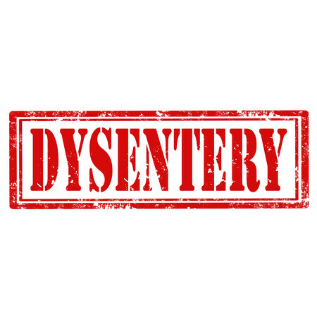 dysentery: Grunge rubber stamp with text Dysentery,vector illustration