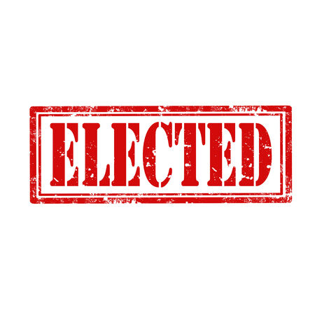 elected: Grunge rubber stamp with word Elected,vector illustration Illustration