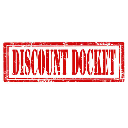 docket: Grunge rubber stamp with text Discount Docket,vector illustration Illustration