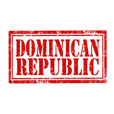 Grunge rubber stamp with text Dominican Republic,vector illustration