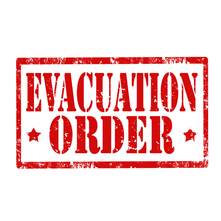 evacuation: Grunge rubber stamp with text Evacuation Order,vector illustration Illustration