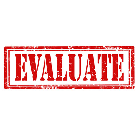 estimate: Grunge rubber stamp with word Evaluate,vector illustration