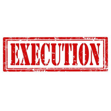 execution: Grunge rubber stamp with word Execution,vector illustration