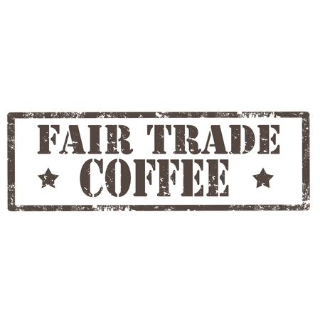 Grunge rubber stamp with text Fair Trade- Coffee,vector illustration Vector