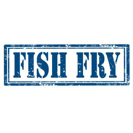 Grunge rubber stamp with text Fish Fry,vector illustration Vettoriali