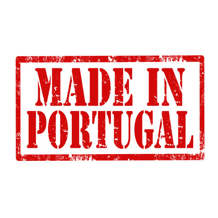 made in portugal: Grunge rubber stamp with text Made In Portugal,vector illustration Illustration