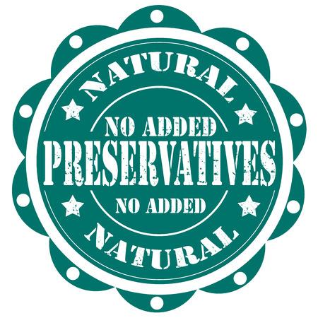 preservatives: Grunge rubber stamp with text No Added Preservatives,vector illustration