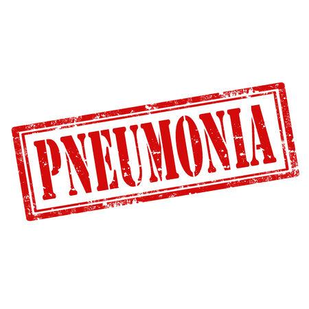 pneumonia: Grunge rubber stamp with text Pneumonia,vector illustration