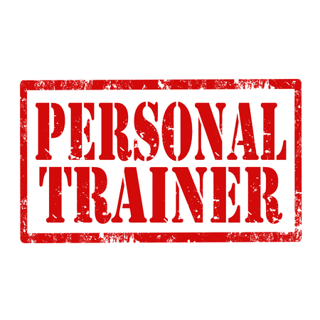 personal trainer: Grunge rubber stamp with text Personal Trainer,vector illustration