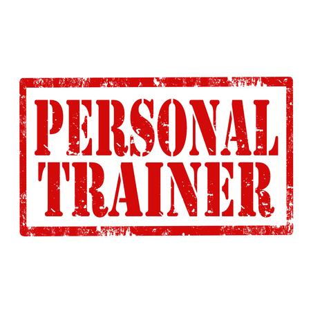 Grunge sello de goma con el texto de Entrenador Personal, ilustración vectorial