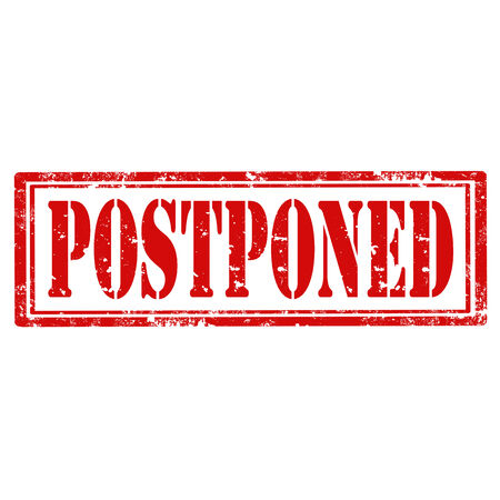 postponed: Grunge rubber stamp with text Postponed,vector illustration