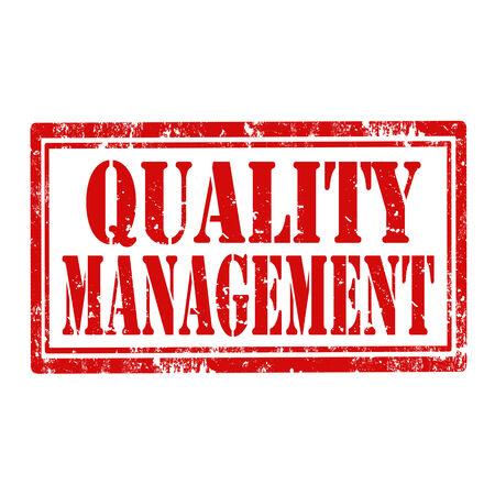 management qualit�: tampon en caoutchouc grunge avec le texte gestion de la qualit�, illustration vectorielle