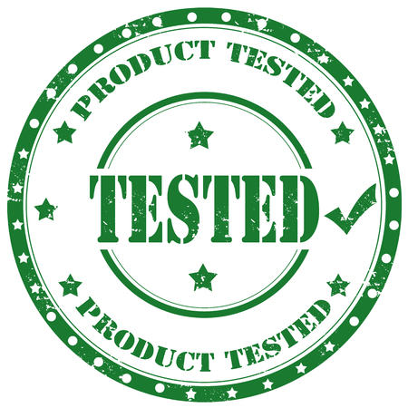 tested: Grunge rubber stamp with text Product Tested,vector illustration