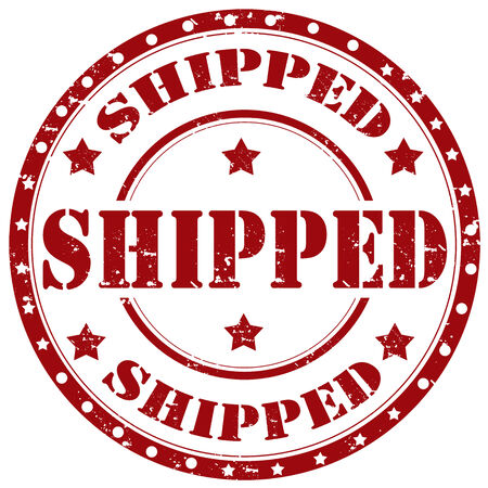 shipped: Grunge rubber stamp with word Shipped,vector illustration Illustration