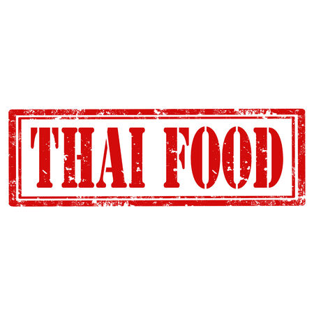 Grunge rubber stamp with text Thai Food,vector illustration Vector