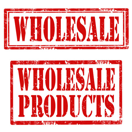 Set of grunge rubber stamps with text Wholesale and Wholesale Product,vector illustration