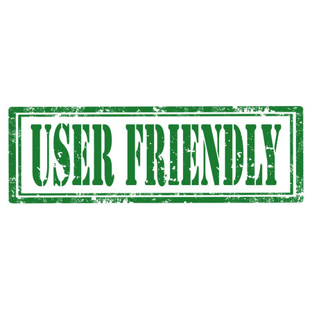 user friendly: Grunge rubber stamp with text User Friendly,vector illustration
