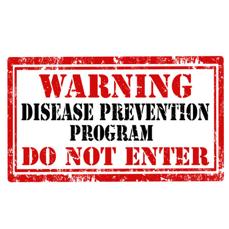 Grunge rubber stamp with text Warning-Disease Prevention Program,vector illustration Vector