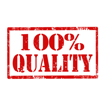 rated: Grunge rubber stamp with text 100  Quality,vector illustration
