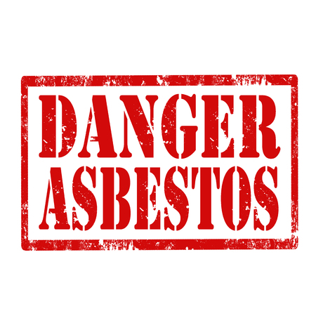 asbestos: Grunge rubber stamp with text Danger Asbestos,vector illustration Illustration