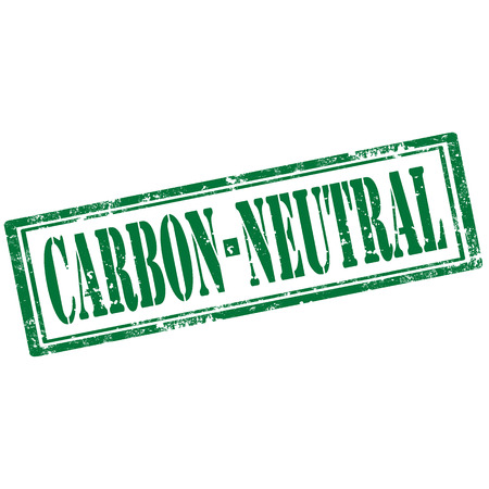 co2 neutral: Grunge rubber stamp with text Carbon Neutral,vector illustration