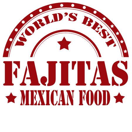 Sello de goma con el texto-Fajitas Mexican Food, ilustración vectorial Foto de archivo - 27172920
