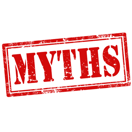 Grunge rubber stamp with word Myths,vector illustration Illustration