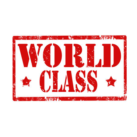 world class: Grunge rubber stamp with text World Class,vector illustration