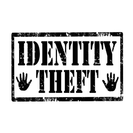 identity theft: Grunge rubber stamp with text Identity Theft,vector illustration