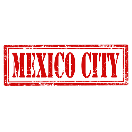 mexico city: Grunge rubber stamp with text Mexico City,vector illustration