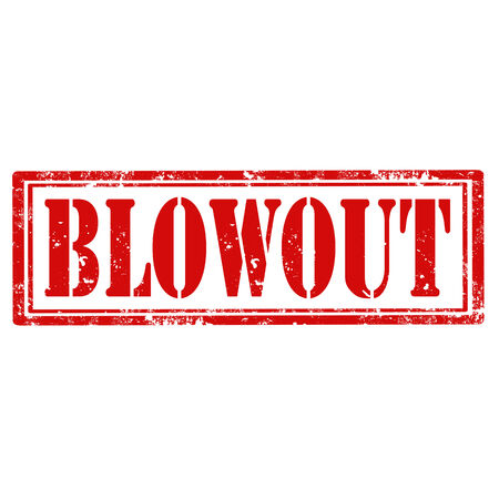 blowout: Grunge rubber stamp with text Blowout,vector illustration