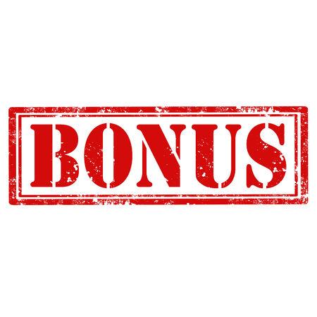 Grunge rubber stamp with word Bonus,vector illustration Vector