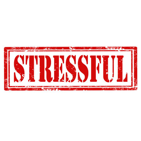 stressful: Grunge rubber stamp with word Stressful,vector illustration Illustration