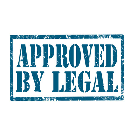 lawful: Grunge rubber stamp with text Approved By Legal,vector illustration