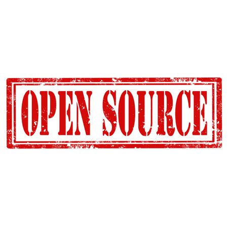 open source: Grunge rubber stamp with text Open Source,vector illustration Illustration