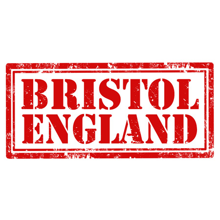 bristol: Grunge rubber stamp with text Bristol-England,vector illustration Illustration