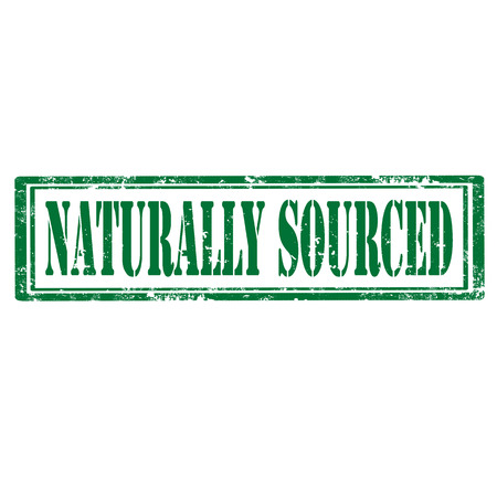 sourced: Grunge rubber stamp with text Naturally Sourced,vector illustration