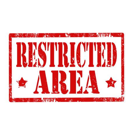 area restringida: Grunge sello de goma con el texto de �rea restringida, ilustraci�n vectorial