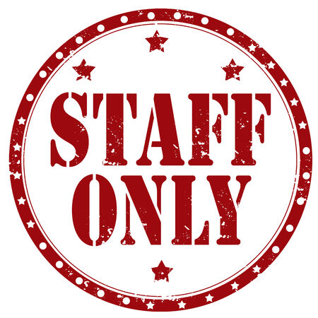 staff only: Grunge rubber stamp with text Staff Only,vector illustration