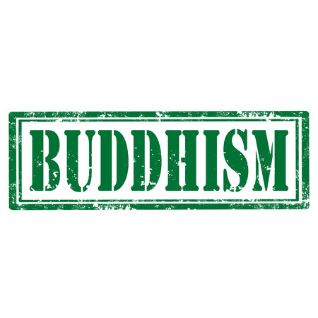Grunge rubber stamp with text Buddhism,vector illustration Stok Fotoğraf - 27454820
