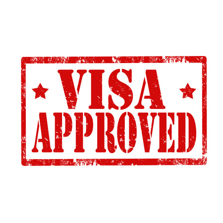 visa approved: Grunge rubber stamp with text Visa Approved,vector illustration