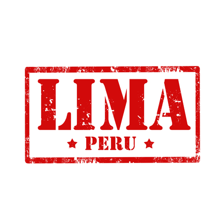 Grunge rubber stamp with text Lima-Peru,vector illustration Vector
