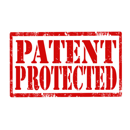 patent: Grunge rubber stamp with text Patent Protected,vector illustration