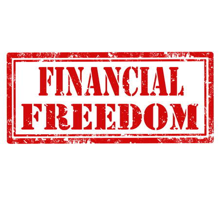 financial freedom: Grunge rubber stamp with text Financial Freedom,vector illustration Illustration