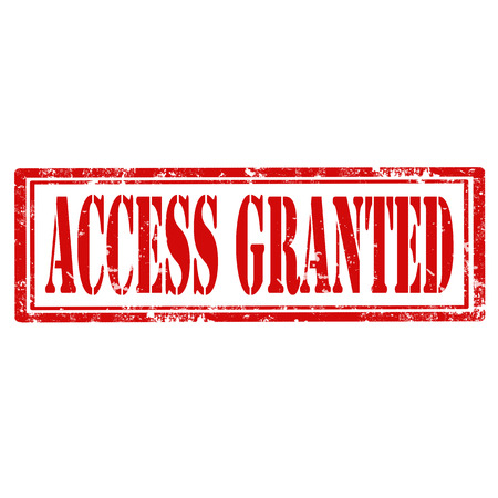 access granted: Grunge rubber stamp with text Access Granted,vector illustration
