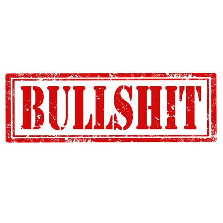 bullshit: Grunge rubber stamp with text Bullshit,vector illustration Illustration
