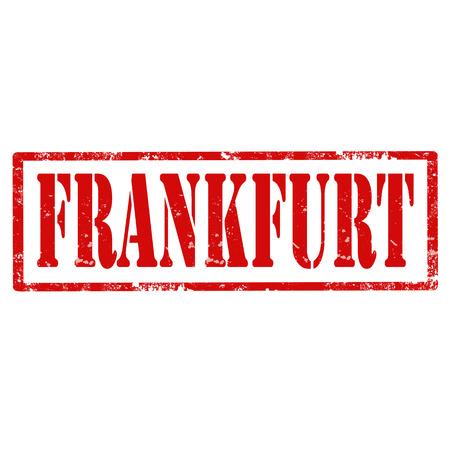 frankfurt germany: Grunge rubber stamp with text Frankfurt,vector illustration