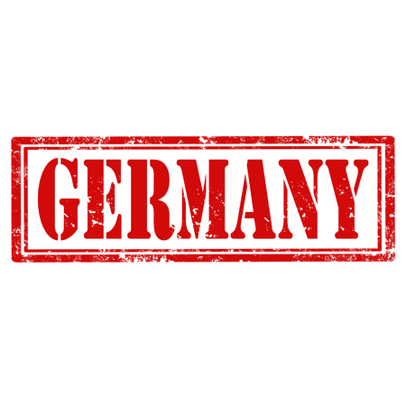 Grunge rubber stamp with text Germany,vector illustration Vector