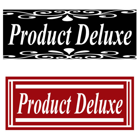 deluxe: Set of labels with text Product Deluxe,vector illustration Illustration